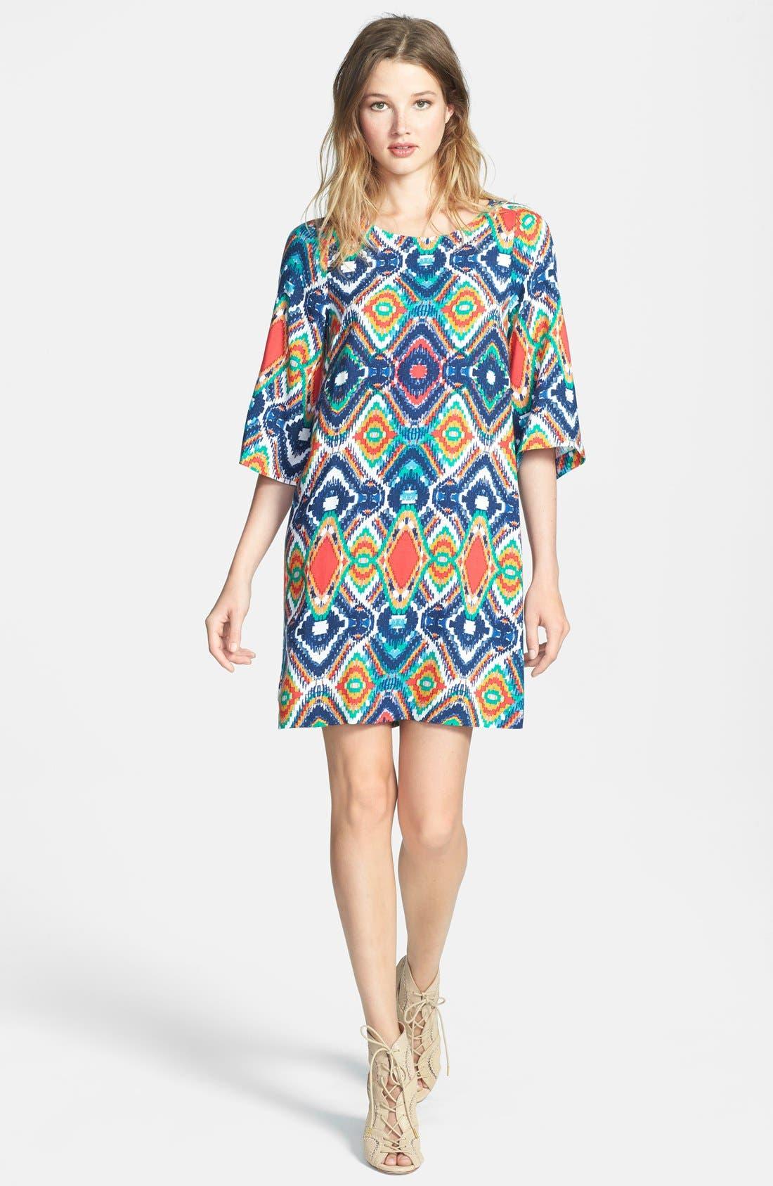 Main Image - Ella Moss 'Totem' Geo Print Shift Dress