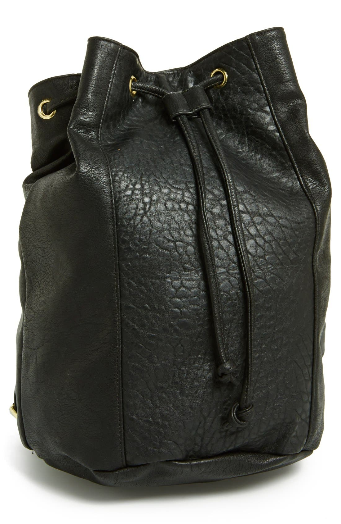 Alternate Image 1 Selected - Lulu Faux-Leather Bucket Backpack (Juniors)