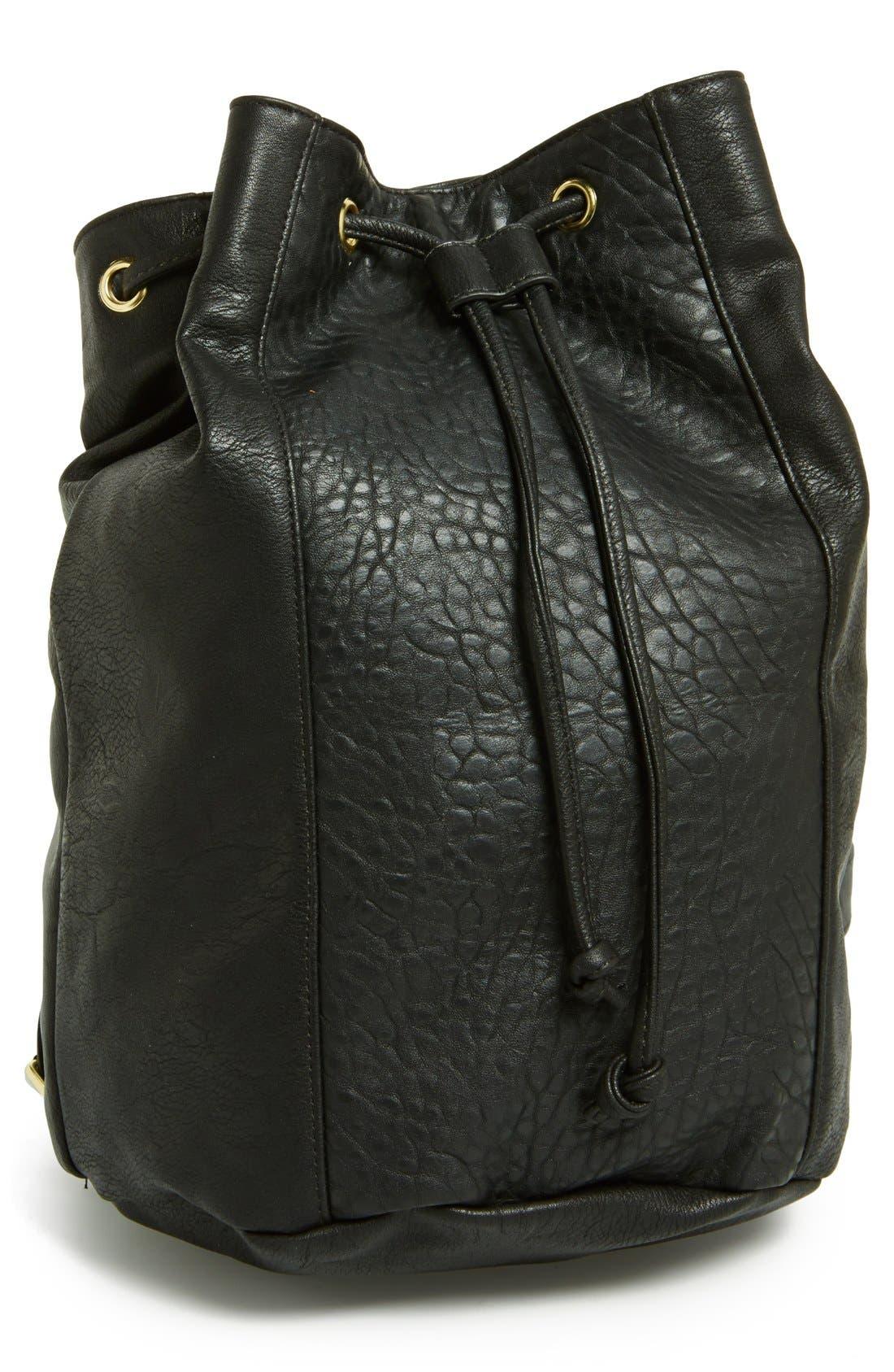 Main Image - Lulu Faux-Leather Bucket Backpack (Juniors)