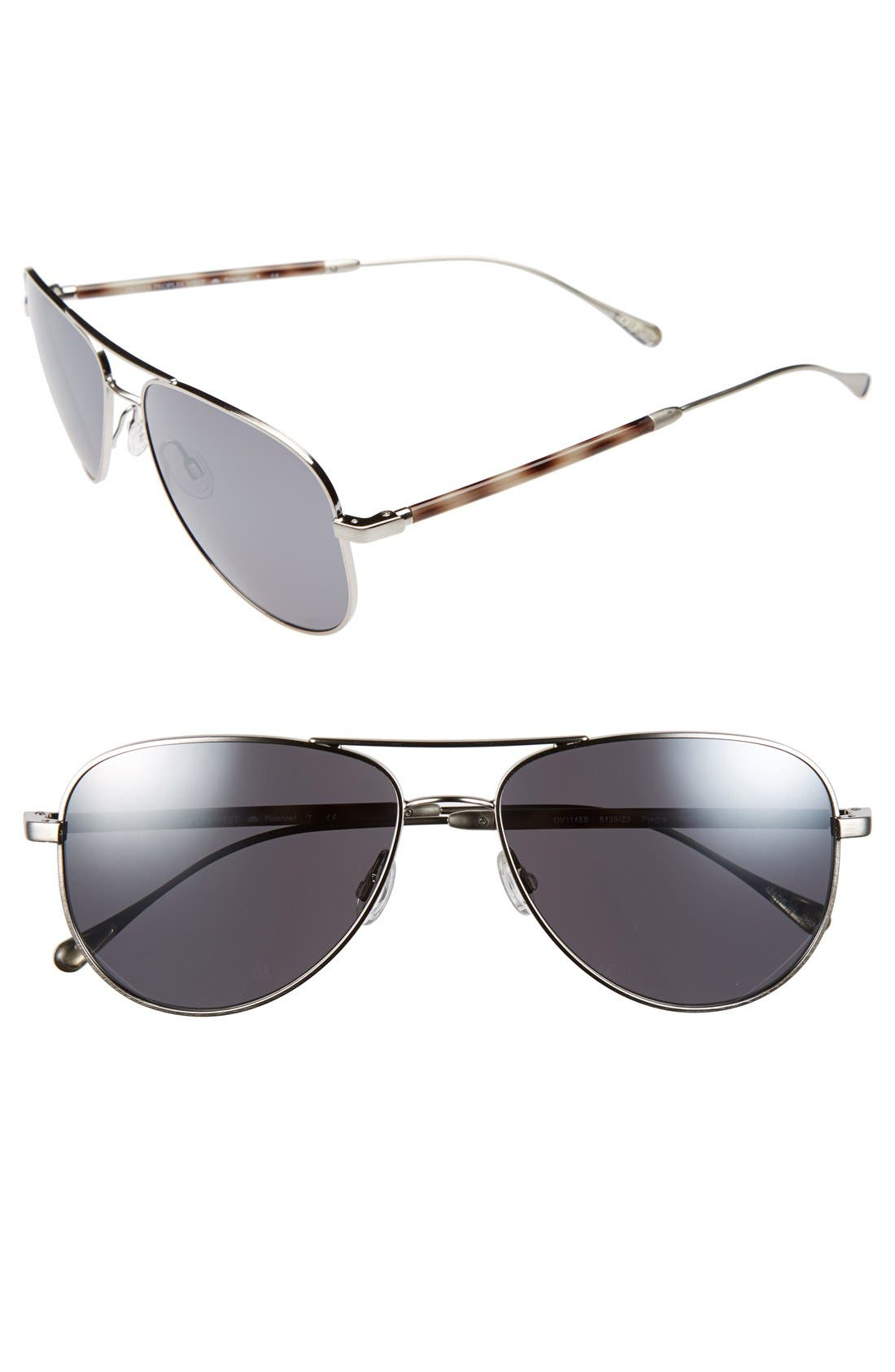 Alternate Image 1 Selected - Oliver Peoples West 'Piedra' 58mm Polarized Sunglasses