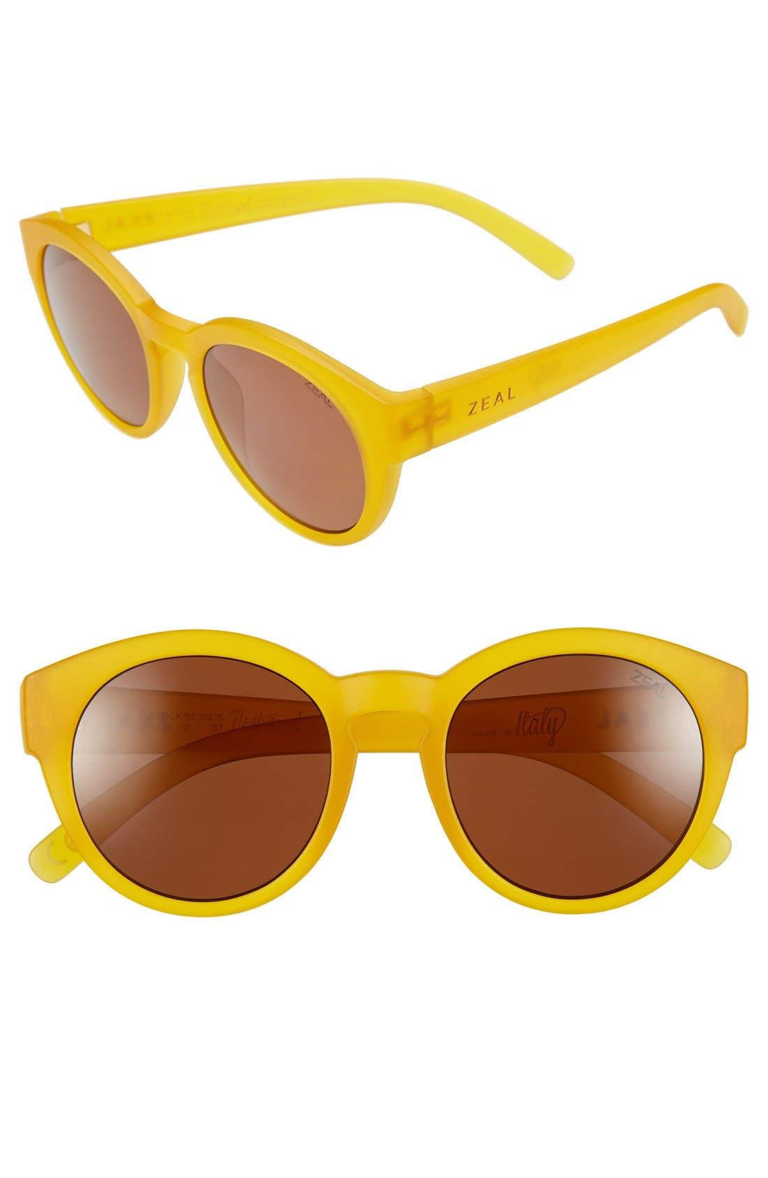 Alternate Image 1 Selected - Zeal Optics 49mm Biodegradable Plant Based Round Sunglasses