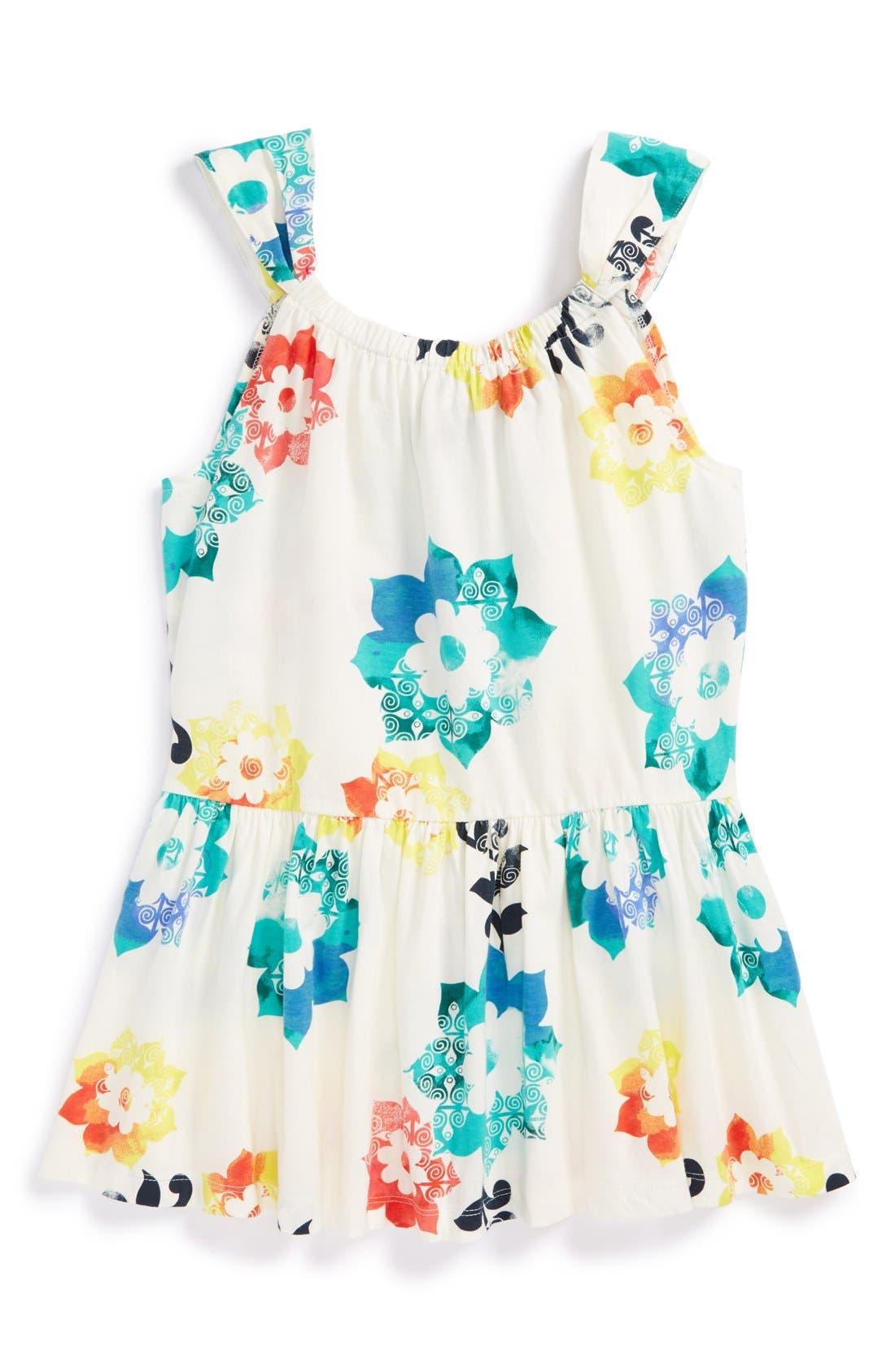 Alternate Image 1 Selected - Tea Collection 'Sandcastle Floral Twirl' Tank (Toddler Girls, Little Girls & Big Girls)