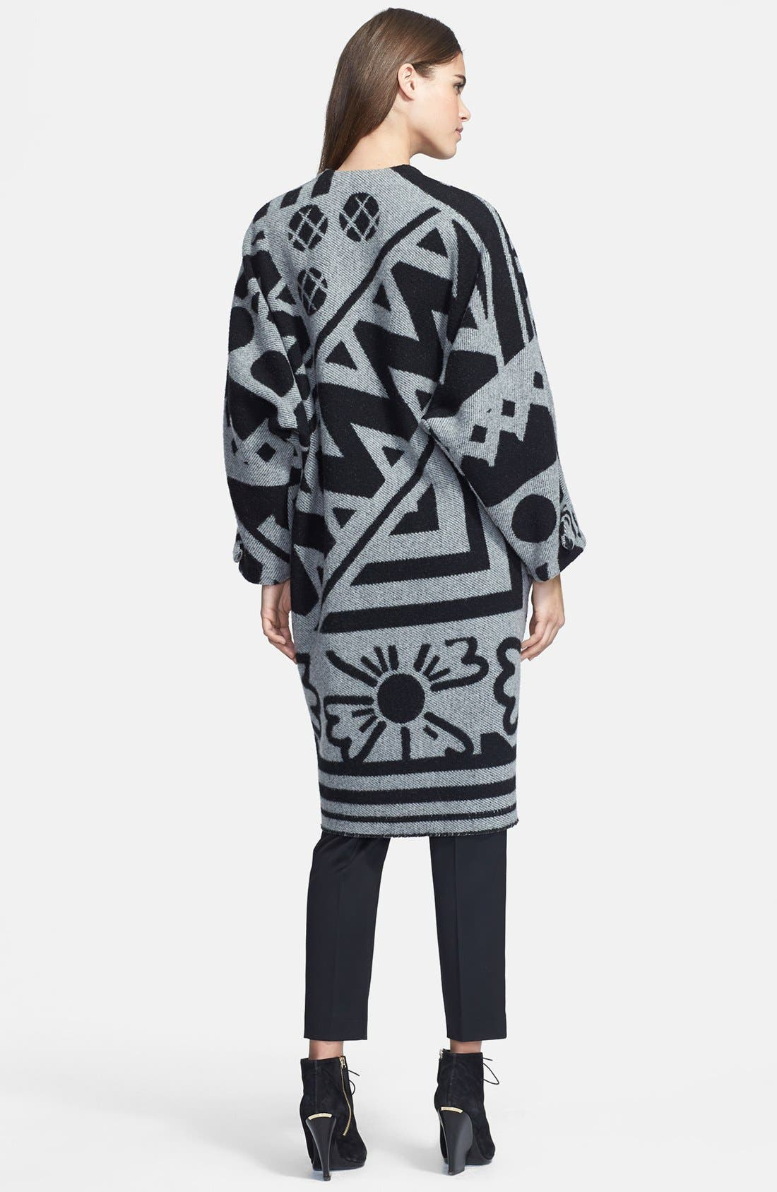 Alternate Image 2  - Burberry Prorsum Jacquard Wool & Cashmere Blanket Coat