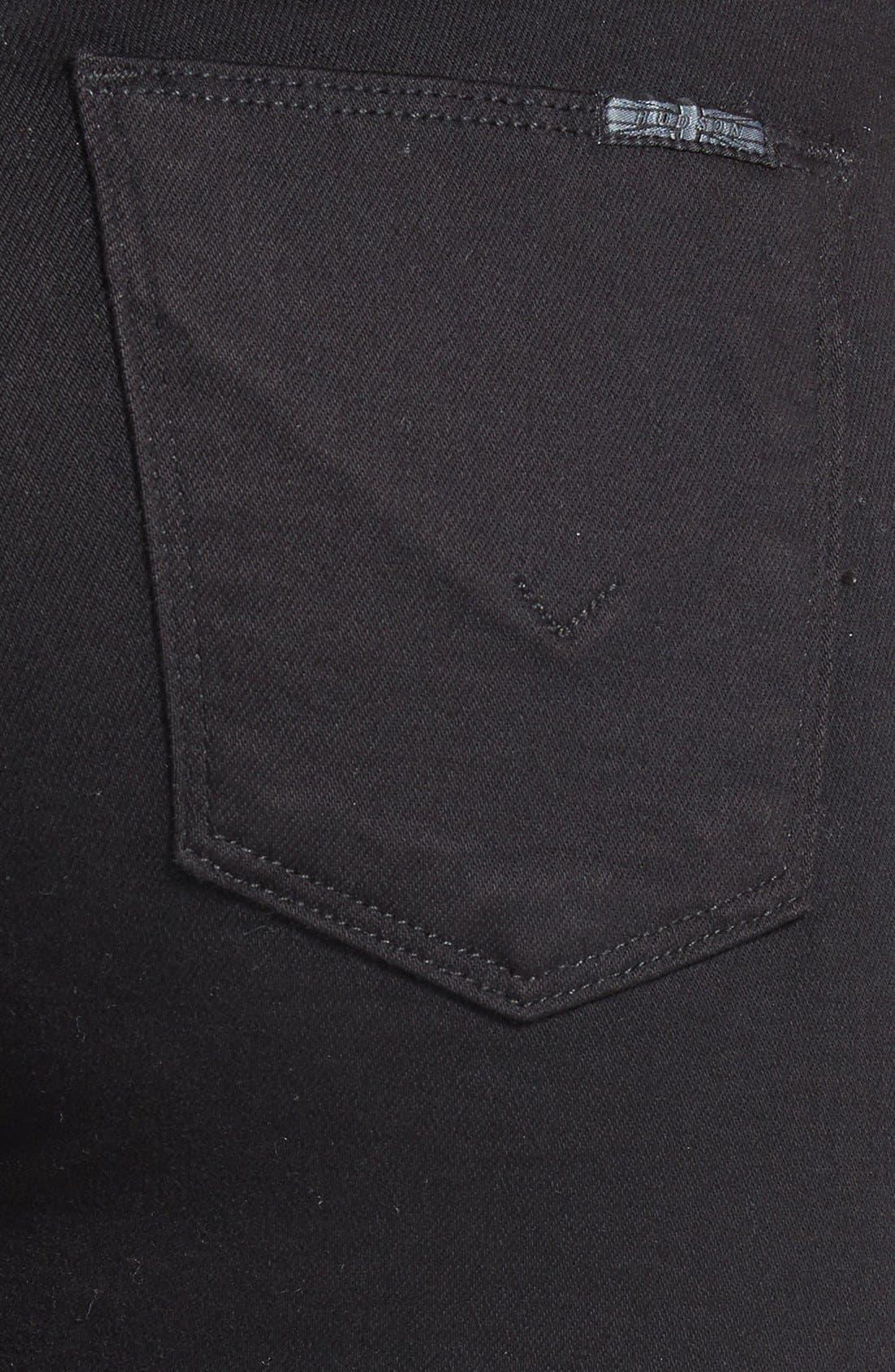 Alternate Image 3  - Hudson Jeans 'Nico' Mid Rise Super Skinny Jeans (Black)