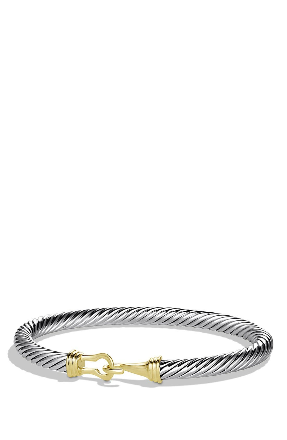 'Cable Buckle' Bracelet with Gold,                         Main,                         color, Two Tone