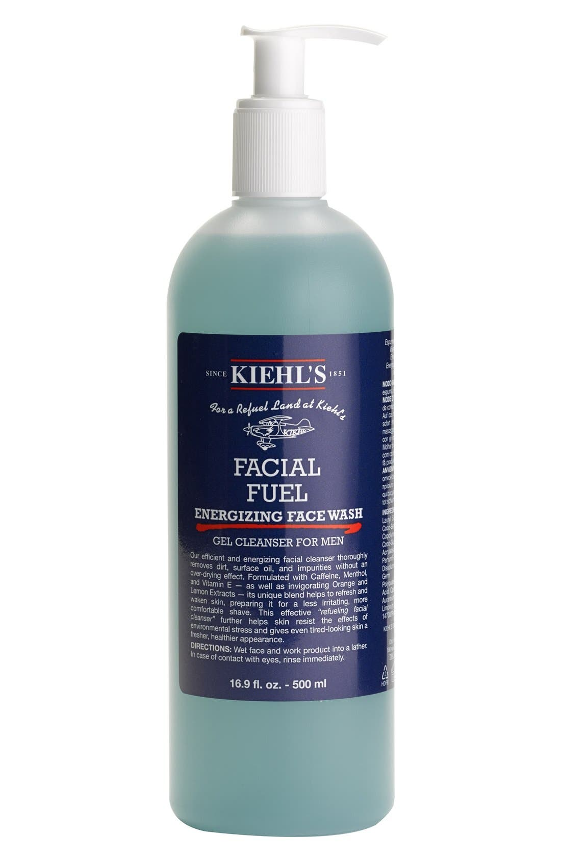 Kiehl's Since 1851 Jumbo Facial Fuel Gel Cleanser for Men ($44 Value)