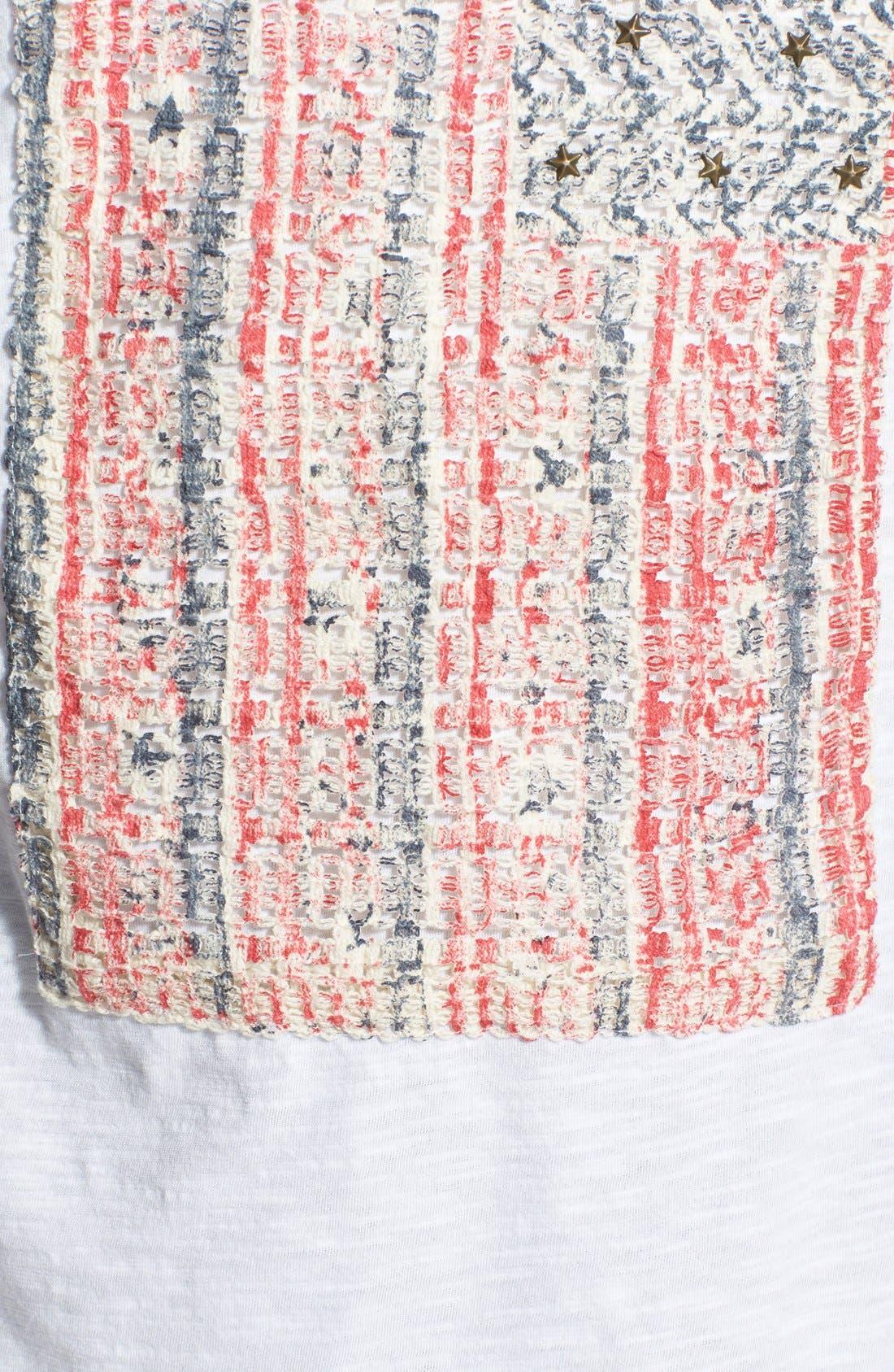 Alternate Image 3  - Lucky Brand Embellished Flag Tee (Plus Size)