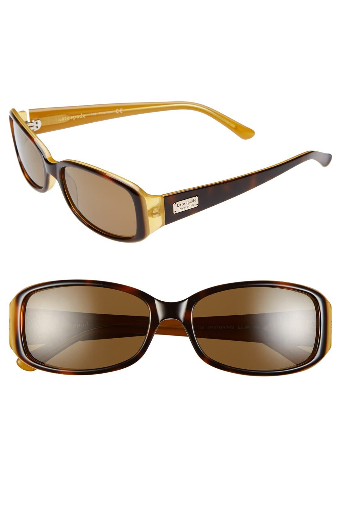 Alternate Image 1 Selected - kate spade new york 'paxton' 53mm polarized sunglasses