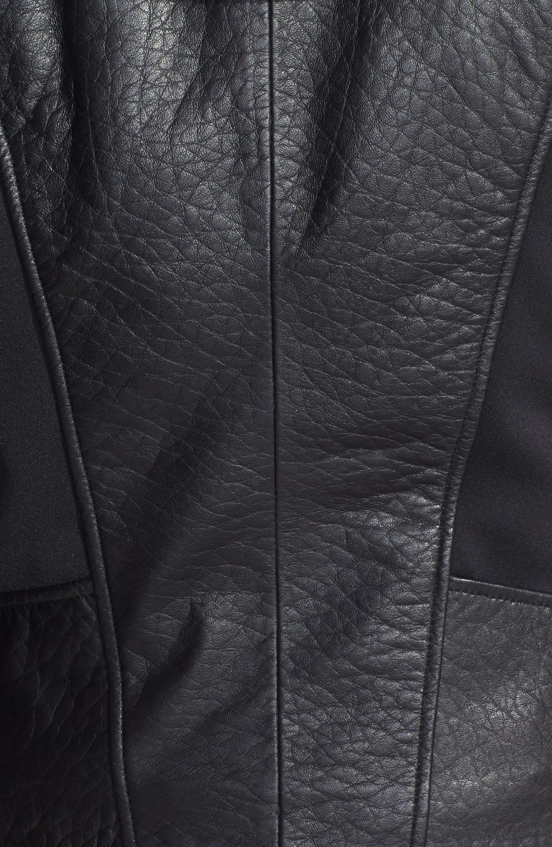 Alternate Image 3  - Marc New York by Andrew Marc Mixed Media Leather Jacket with Removable Hooded Liner
