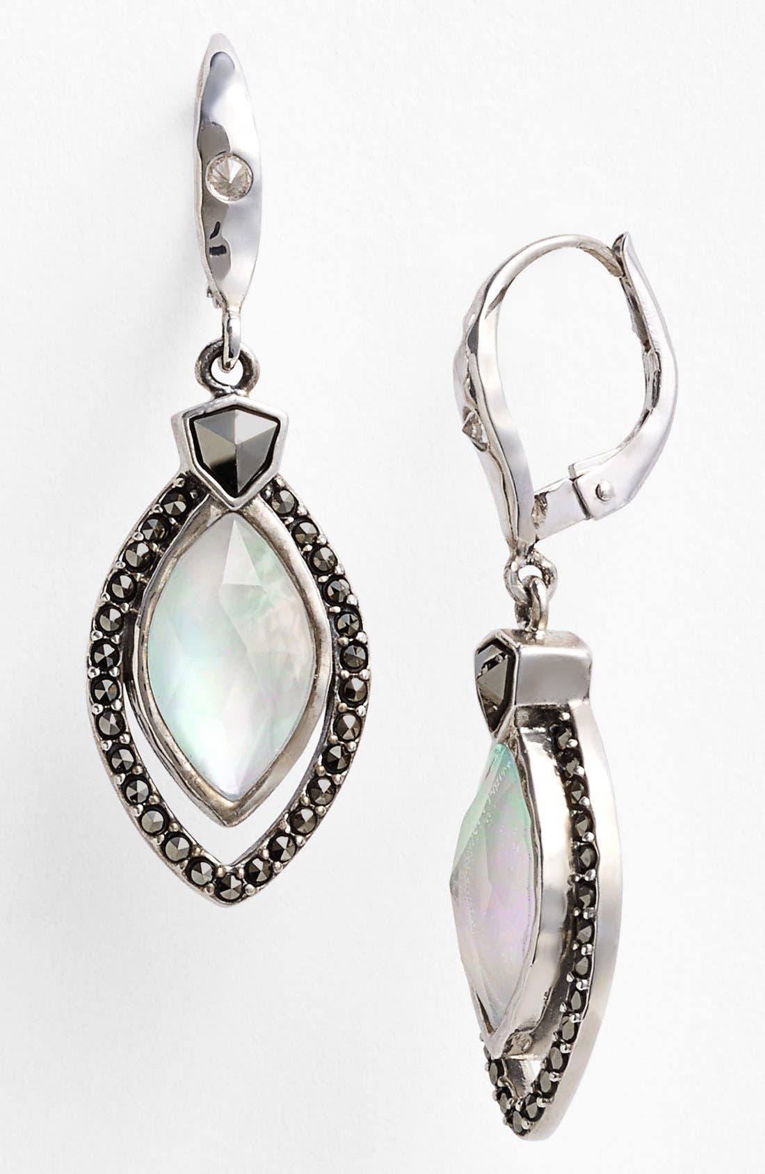 Alternate Image 1 Selected - Judith Jack 'Blue Sea' Drop Earrings