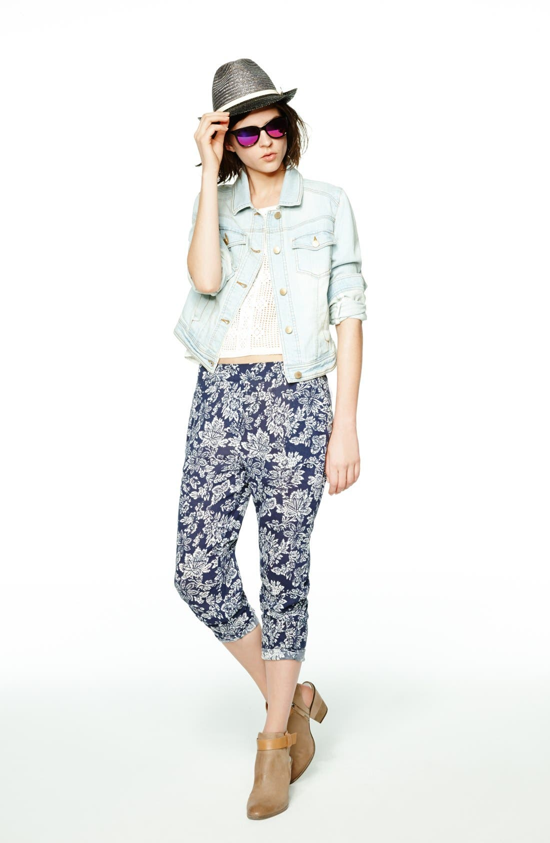 Alternate Image 5  - Ace Delivery Floral Print Pants
