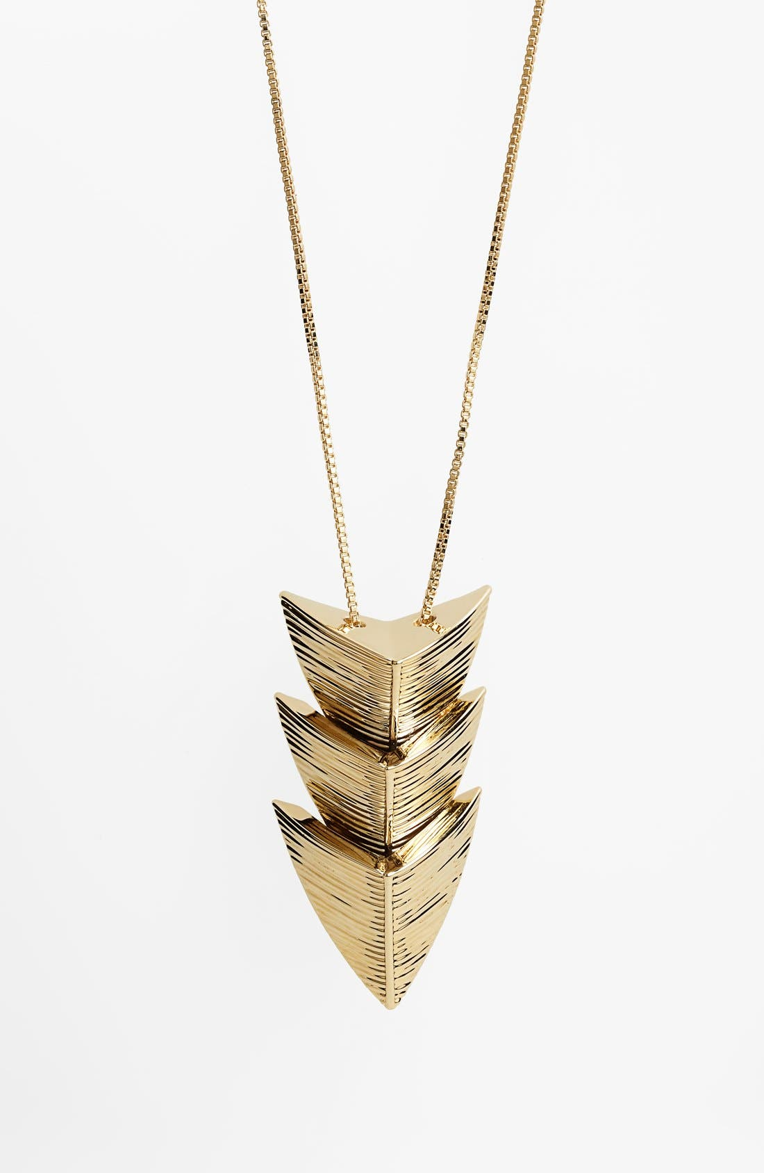 Alternate Image 3  - St. John Collection Arrowhead Long Pendant Necklace