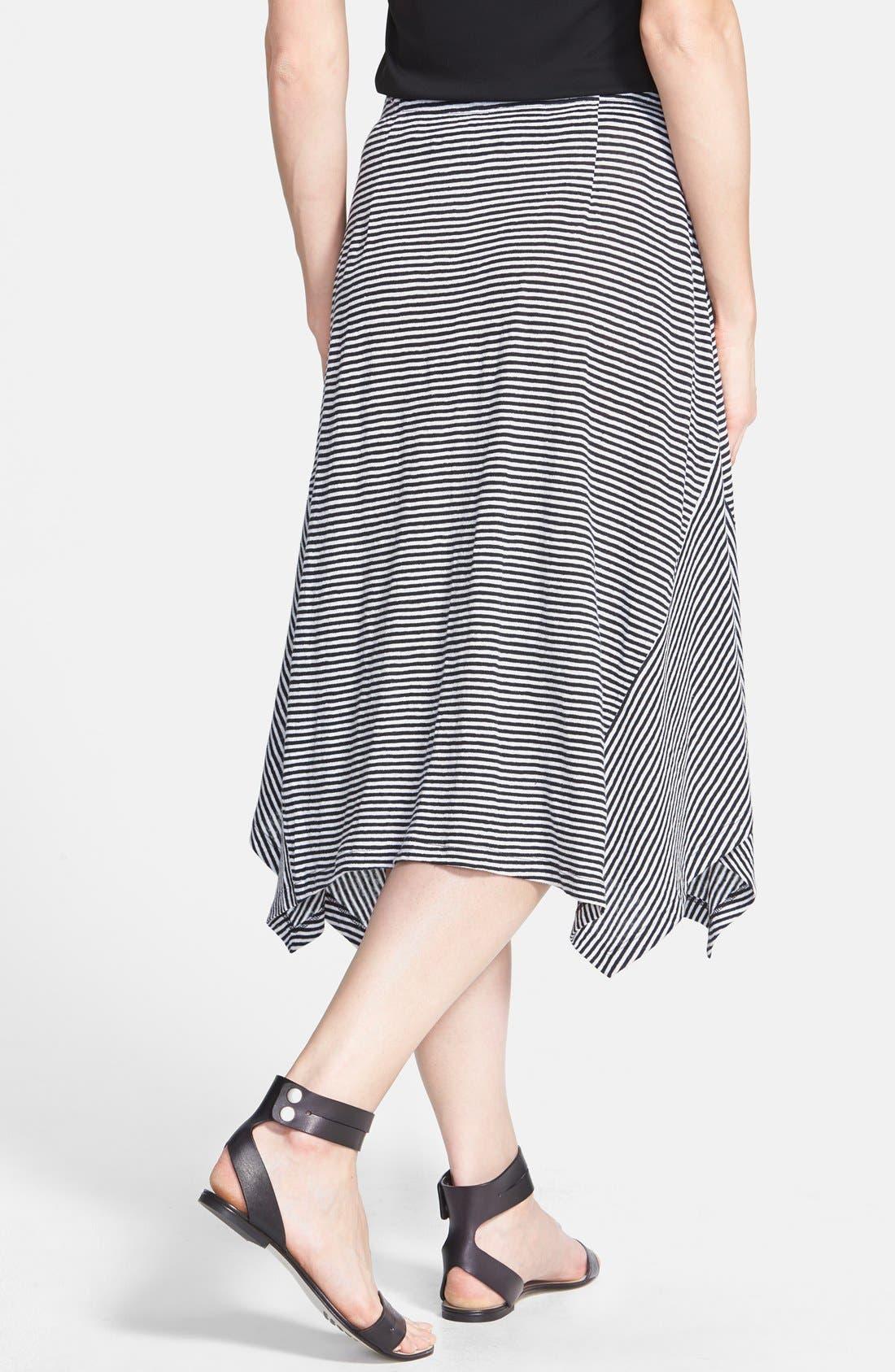 Alternate Image 2  - Eileen Fisher Stripe Organic Linen Skirt (Regular & Petite)