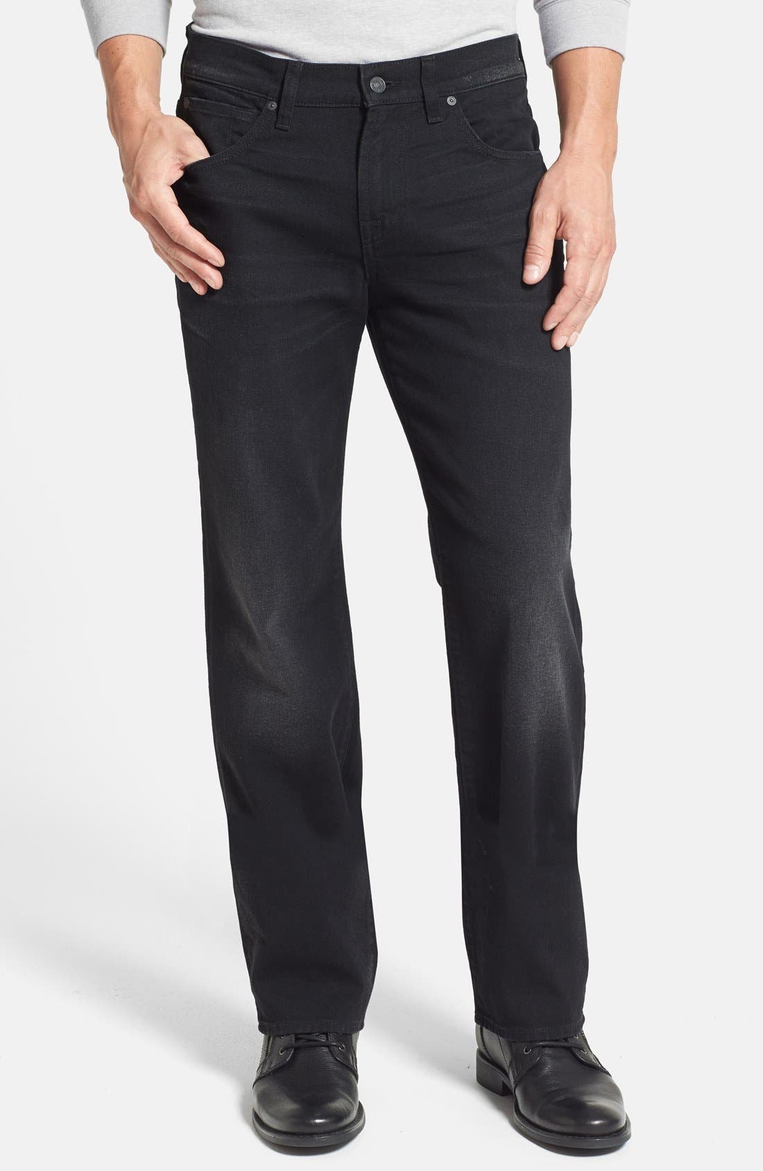 Alternate Image 1 Selected - 7 For All Mankind® 'Austyn' Relaxed Straight Leg Jeans (Dark West Edge) (Online Only)