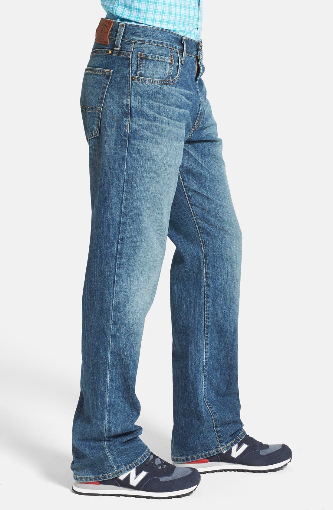 Alternate Image 3  - Lucky Brand '181' Relaxed Fit Jeans (Dellwood) (Online Only)