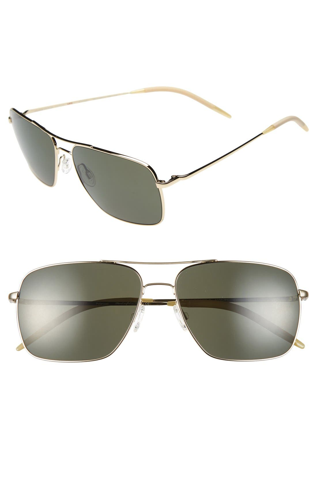 Alternate Image 1 Selected - Oliver Peoples 'Marmont' 58mm Polarized Sunglasses