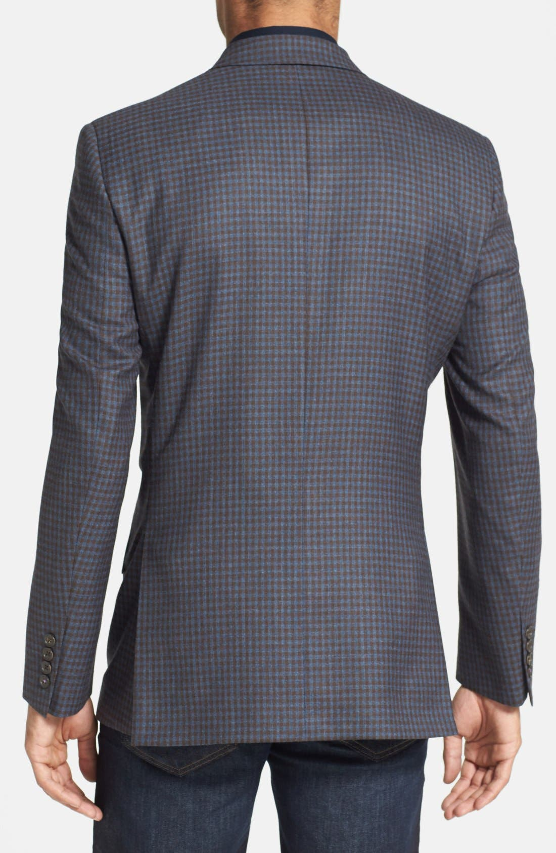 Alternate Image 2  - Ted Baker London 'Jerry' Trim Fit Check Sport Coat (Online Only)