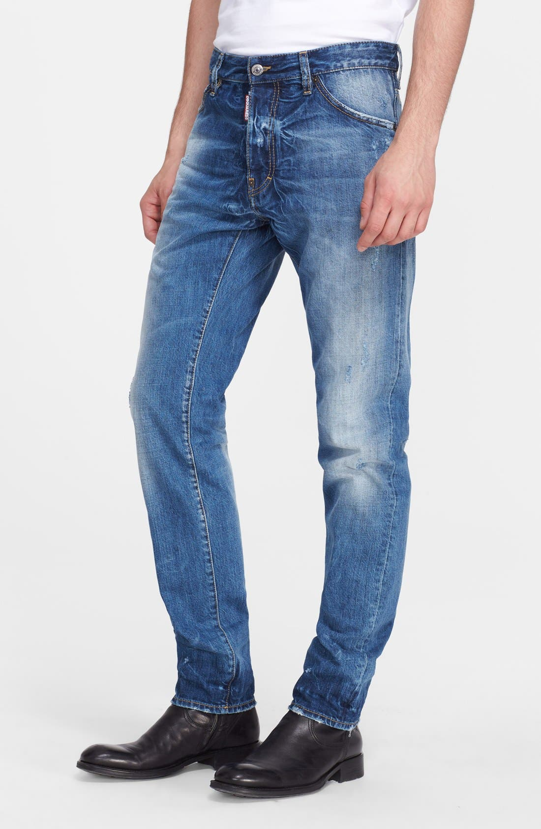 'Cool Guy' Skinny Fit Jeans,                             Main thumbnail 1, color,                             Blue