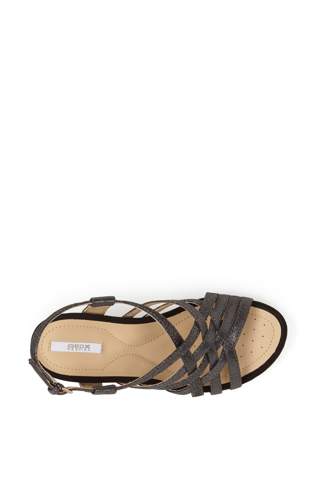 Alternate Image 3  - Geox 'Roxy' Metallic Leather Sandal (Women)