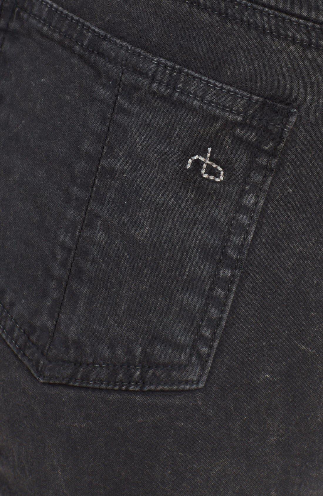 Alternate Image 3  - rag & bone/JEAN 'Justine' High Rise Skinny Jeans (Rosebowl Black)
