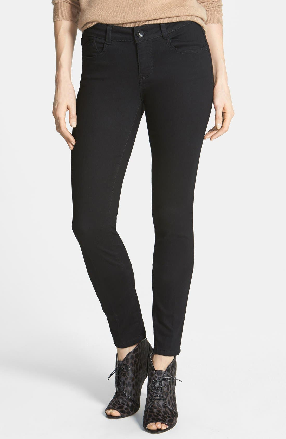 Main Image - Wit & Wisdom Lightweight Stretch Skinny Jeans (Black) (Nordstrom Exclusive)