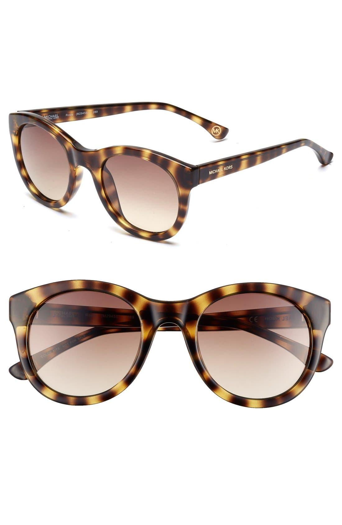 'Rosie' 49mm Sunglasses,                         Main,                         color, Vintage Tortoise