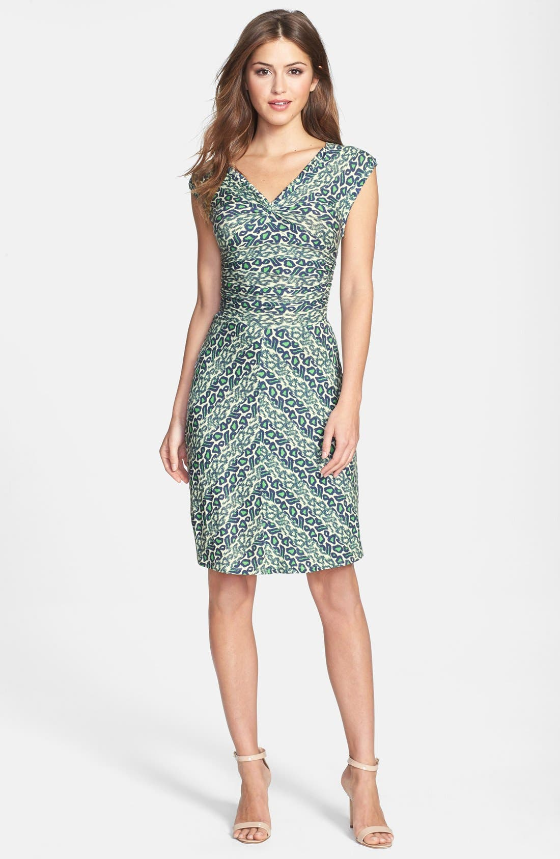 Alternate Image 3  - Plenty by Tracy Reese 'Brooke' Print Knotted Jersey Sheath Dress