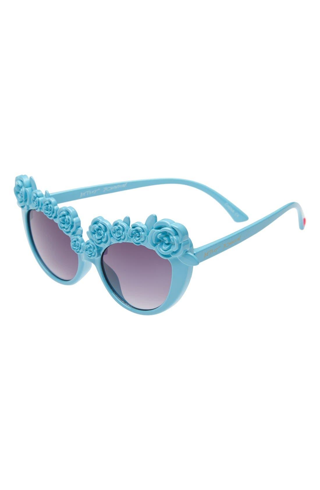 Cat Eye Sunglasses,                         Main,                         color, Turquoise
