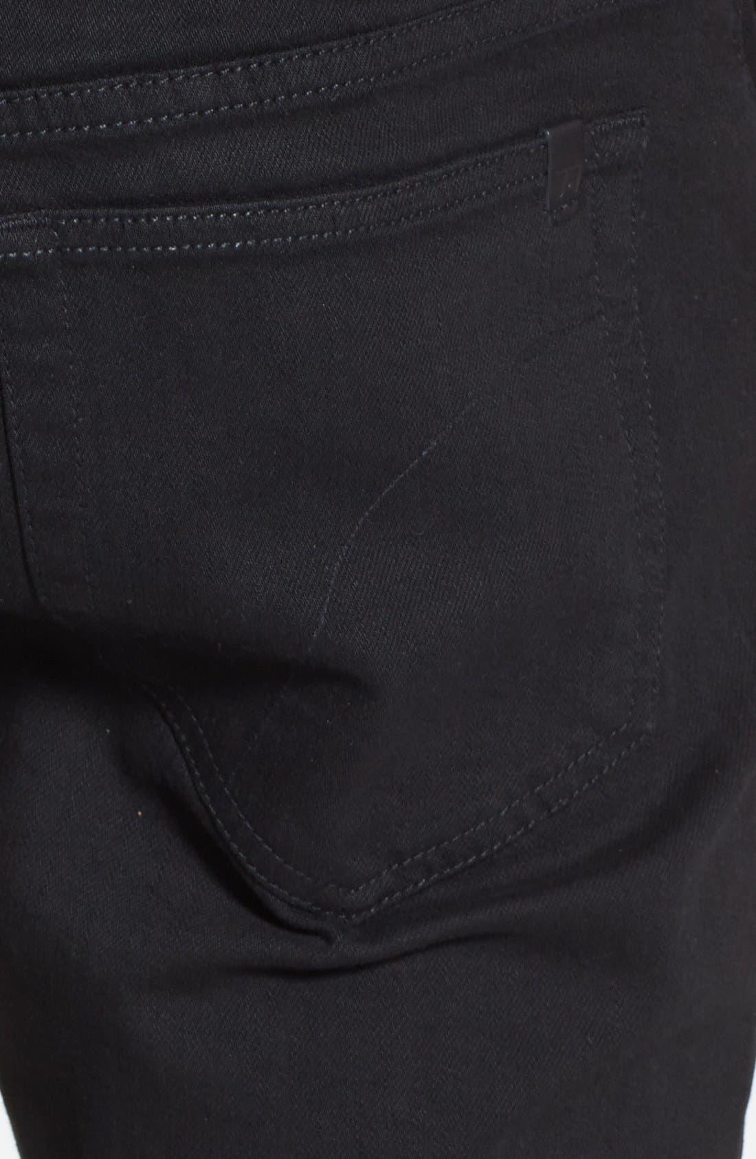 Alternate Image 4  - Joe's 'Slim' Skinny Fit Jeans (Jet Black)