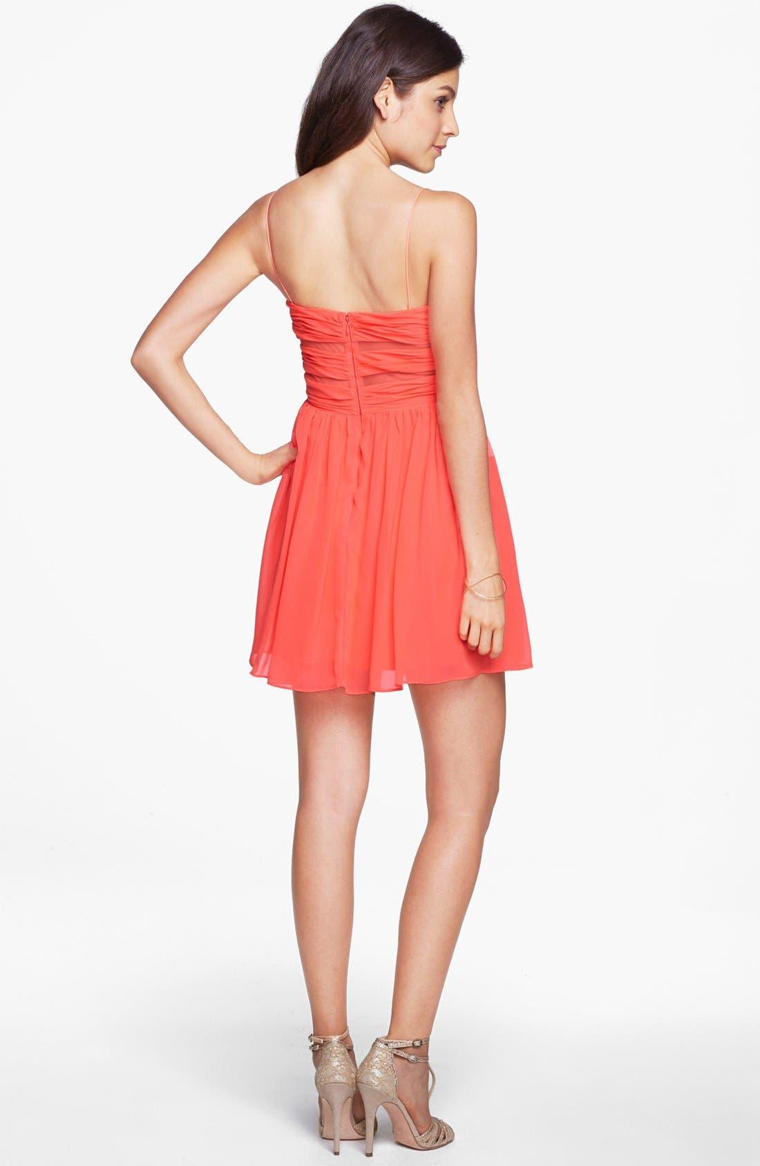 Alternate Image 2  - Hailey Logan Cutout Chiffon Dress (Juniors)