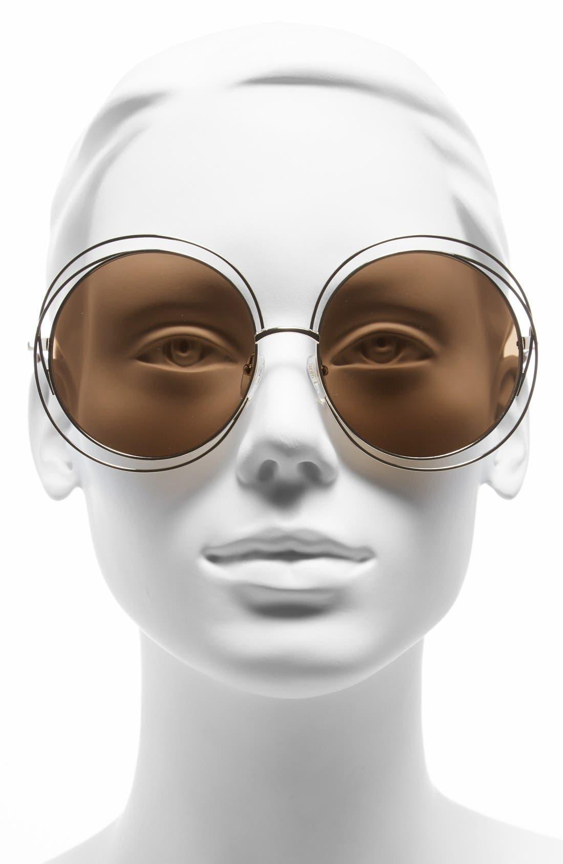 Alternate Image 2  - Chloé 62mm Oversize Sunglasses