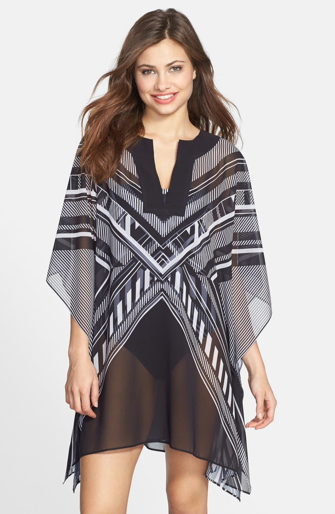 Alternate Image 1 Selected - Vince Camuto Geometric Cover-Up Tunic
