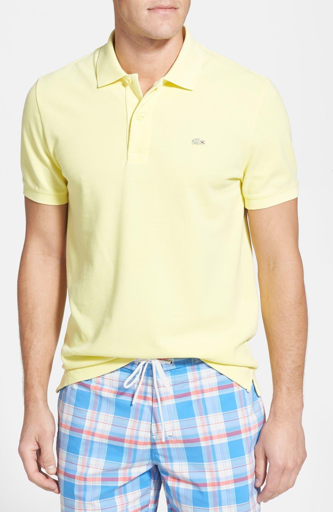 Main Image - Lacoste Garment Dyed Piqué Polo