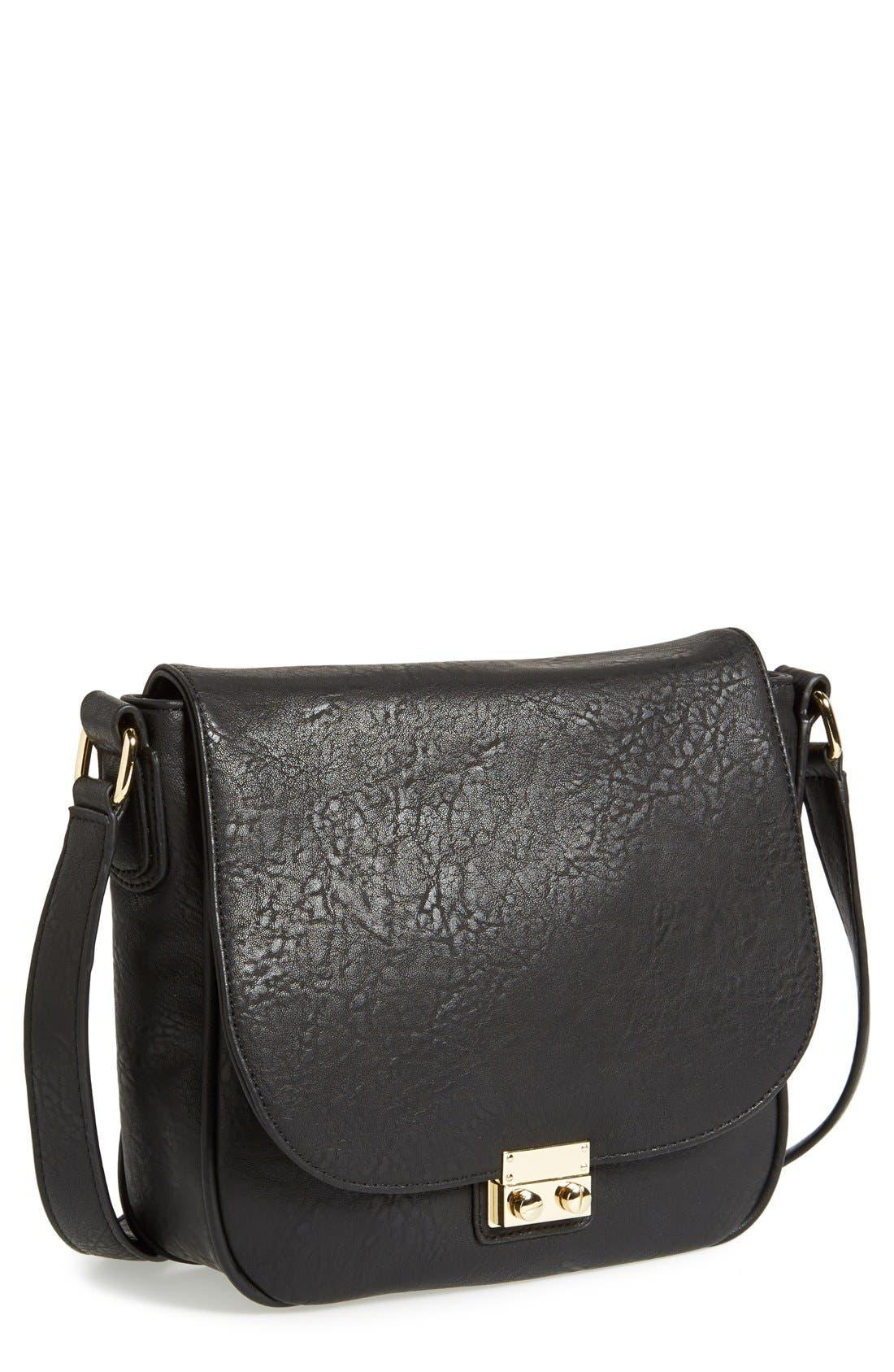 Alternate Image 1 Selected - Sole Society 'Sequoia' Faux Leather Saddle Bag