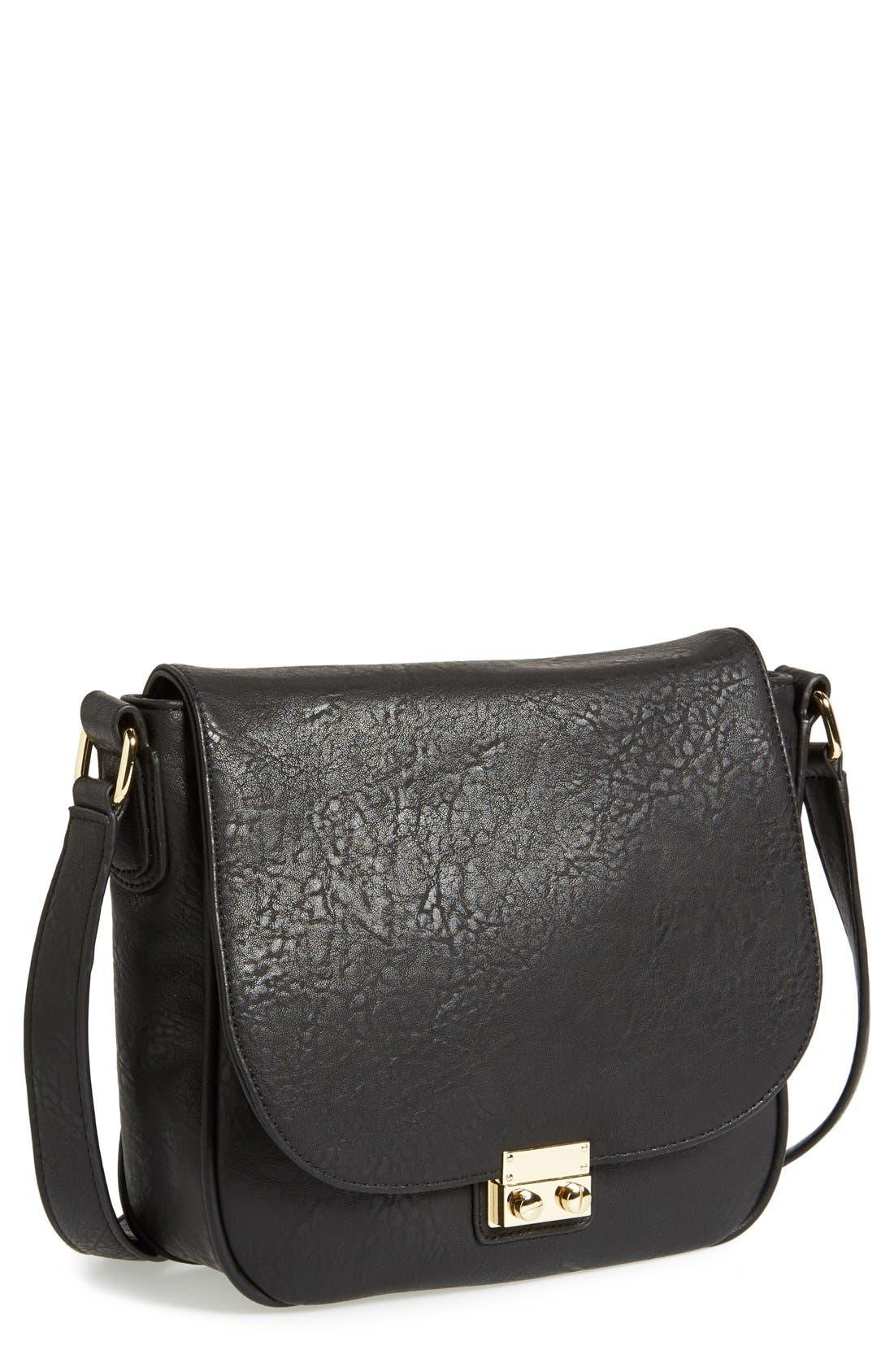 Main Image - Sole Society 'Sequoia' Faux Leather Saddle Bag