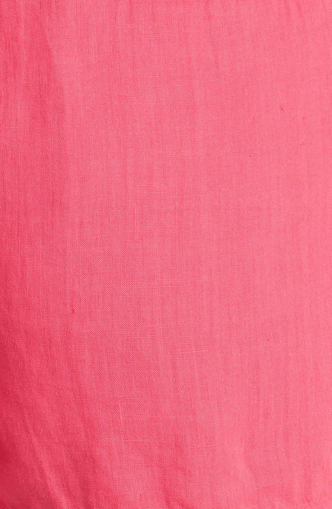 Alternate Image 3  - Caslon® Drawstring Linen Shorts (Regular & Petite)