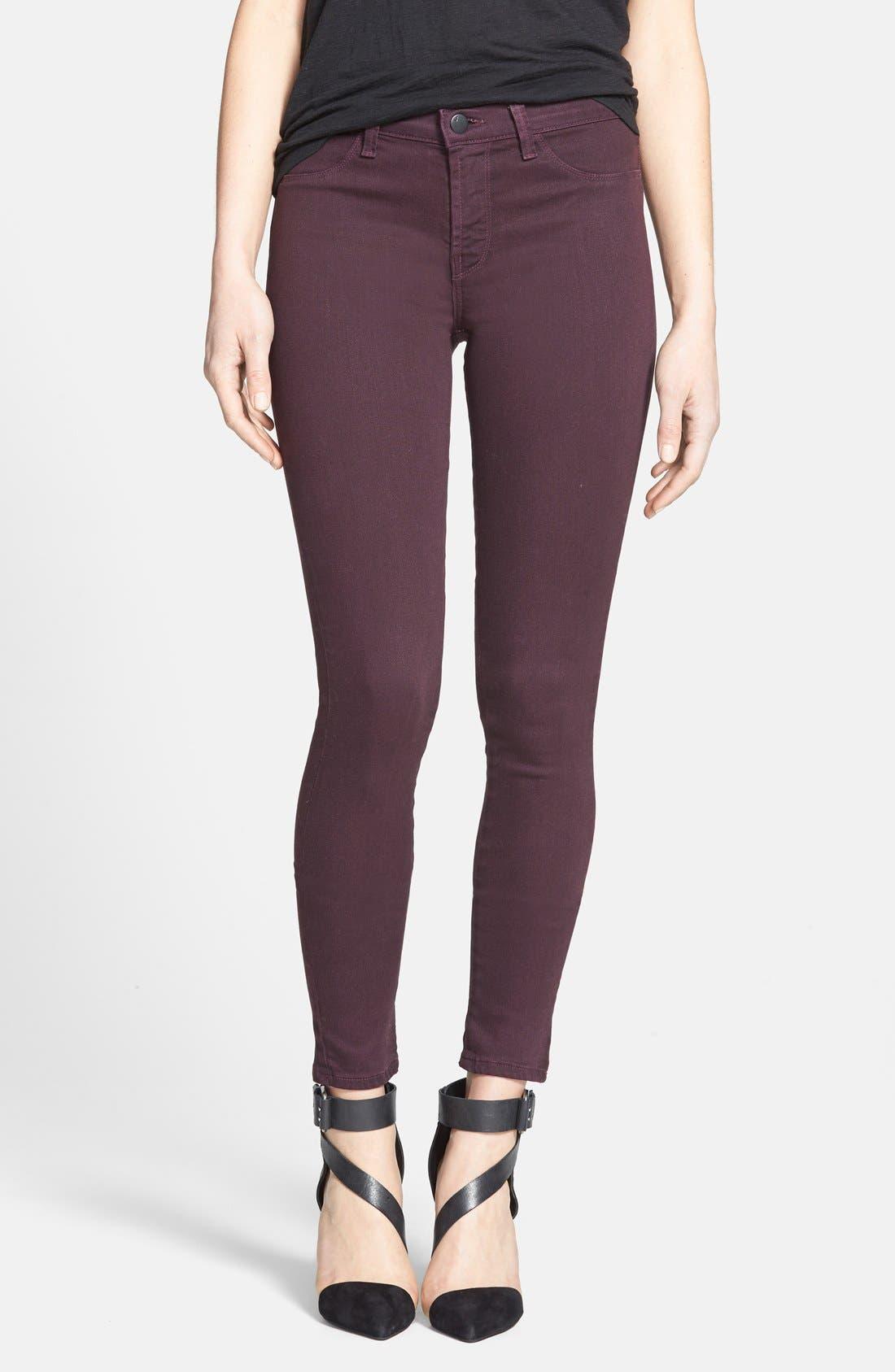 Alternate Image 1 Selected - J Brand '485' Skinny Jeans (Dark Plum)