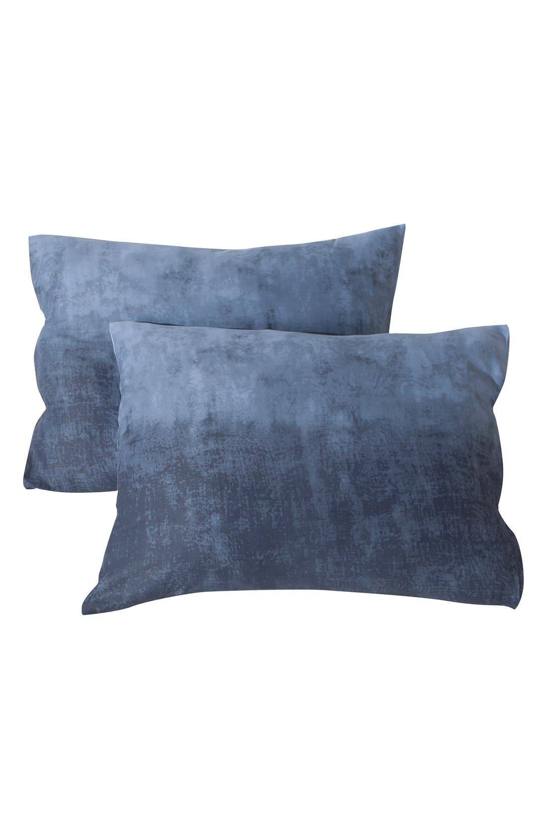 Janie 300 Thread Count Duvet Cover & Sham Set,                             Alternate thumbnail 2, color,                             Denim Blue
