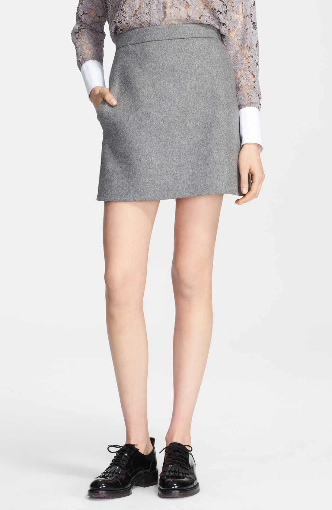 Main Image - Valentino Wool Blend Skirt