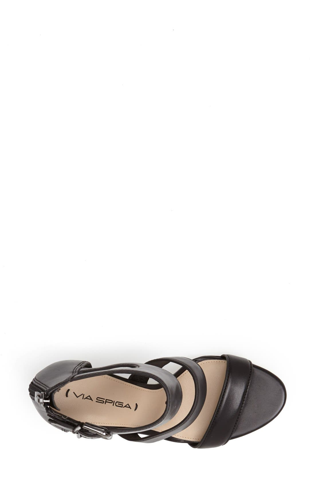 Alternate Image 4  - Via Spiga 'Fernanda' Wedge Leather Sandal (Women)