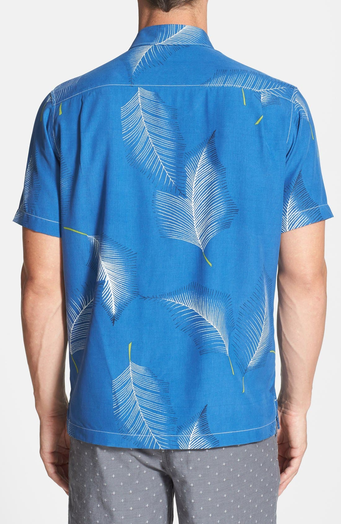 Alternate Image 2  - Tommy Bahama 'Feathered Fronds' Island Modern Fit Silk Campshirt