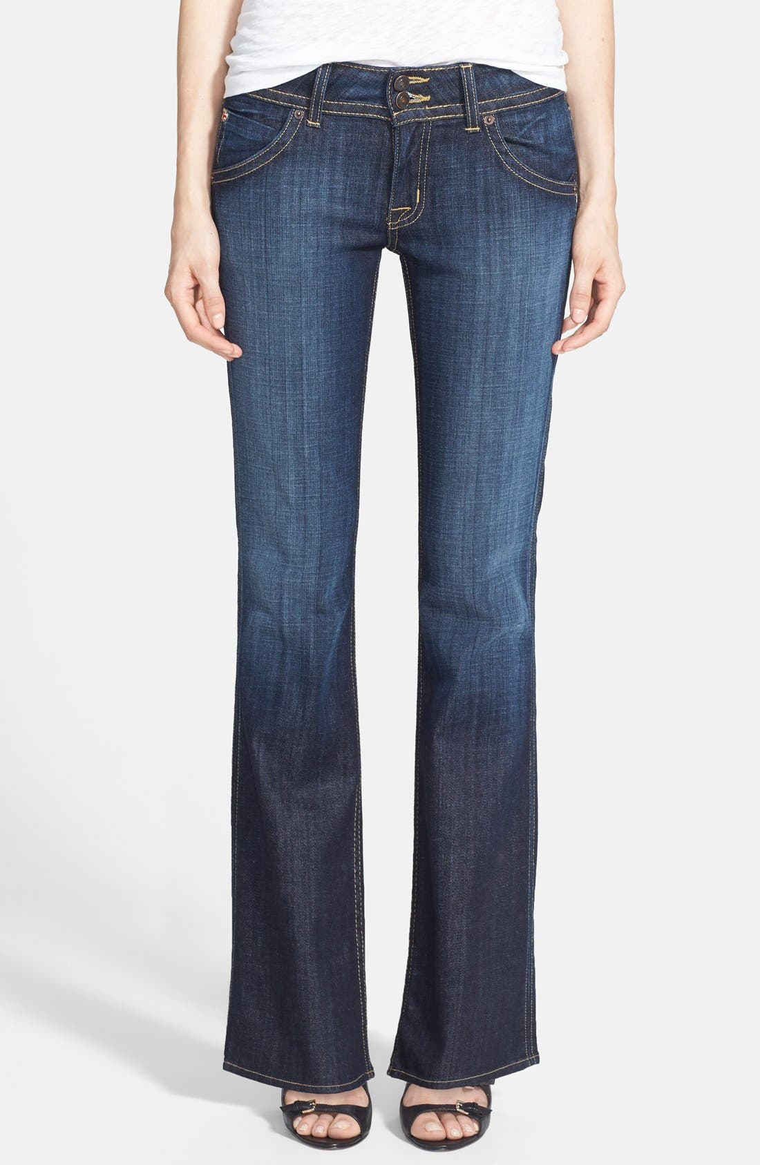 Main Image - Hudson Jeans Signature Bootcut Stretch Jeans (Elm) (Petite)