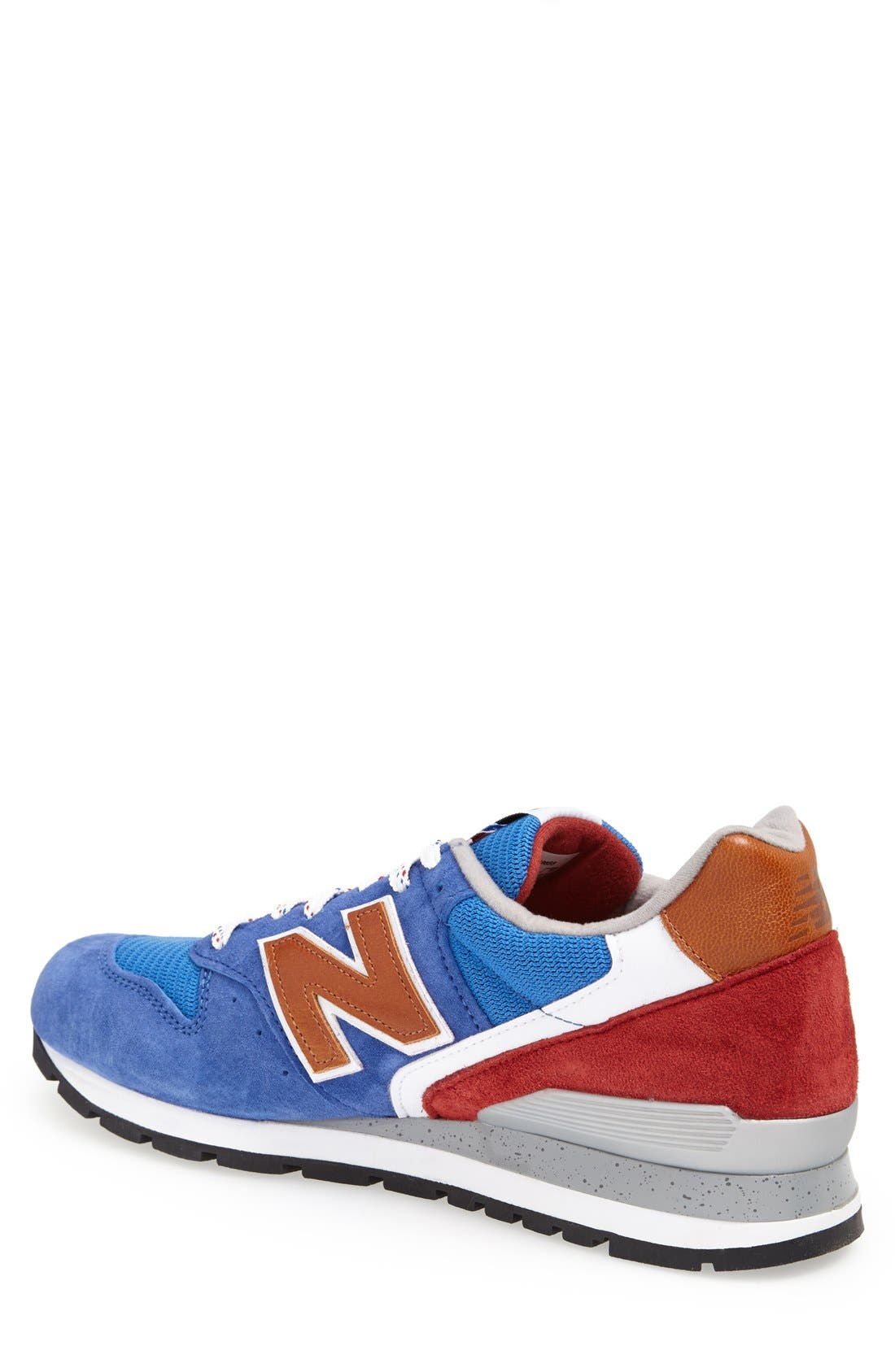 '996' Sneaker,                             Alternate thumbnail 2, color,                             Blue/Red