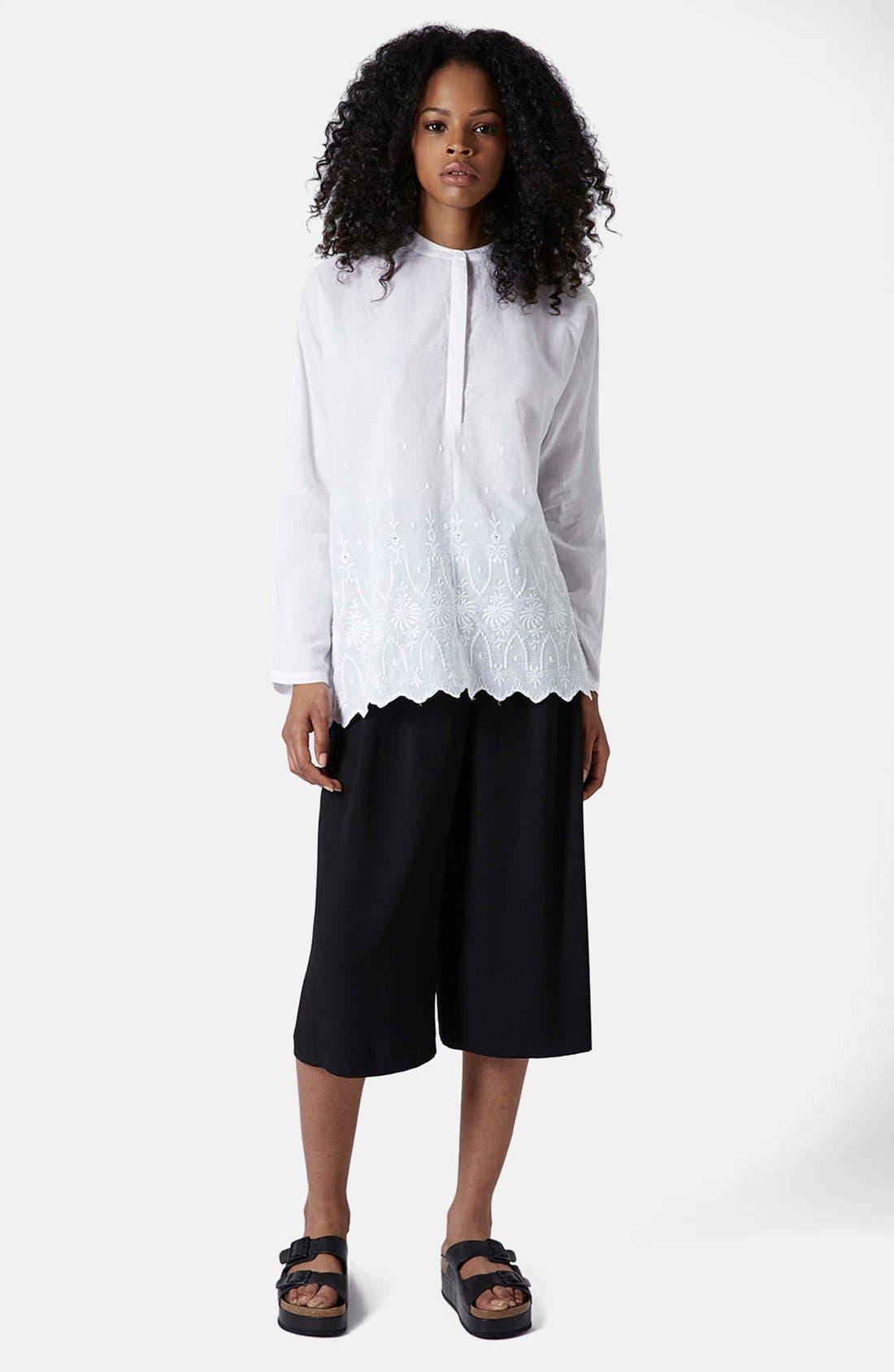 Alternate Image 5  - Topshop Embroidered Oversized Shirt