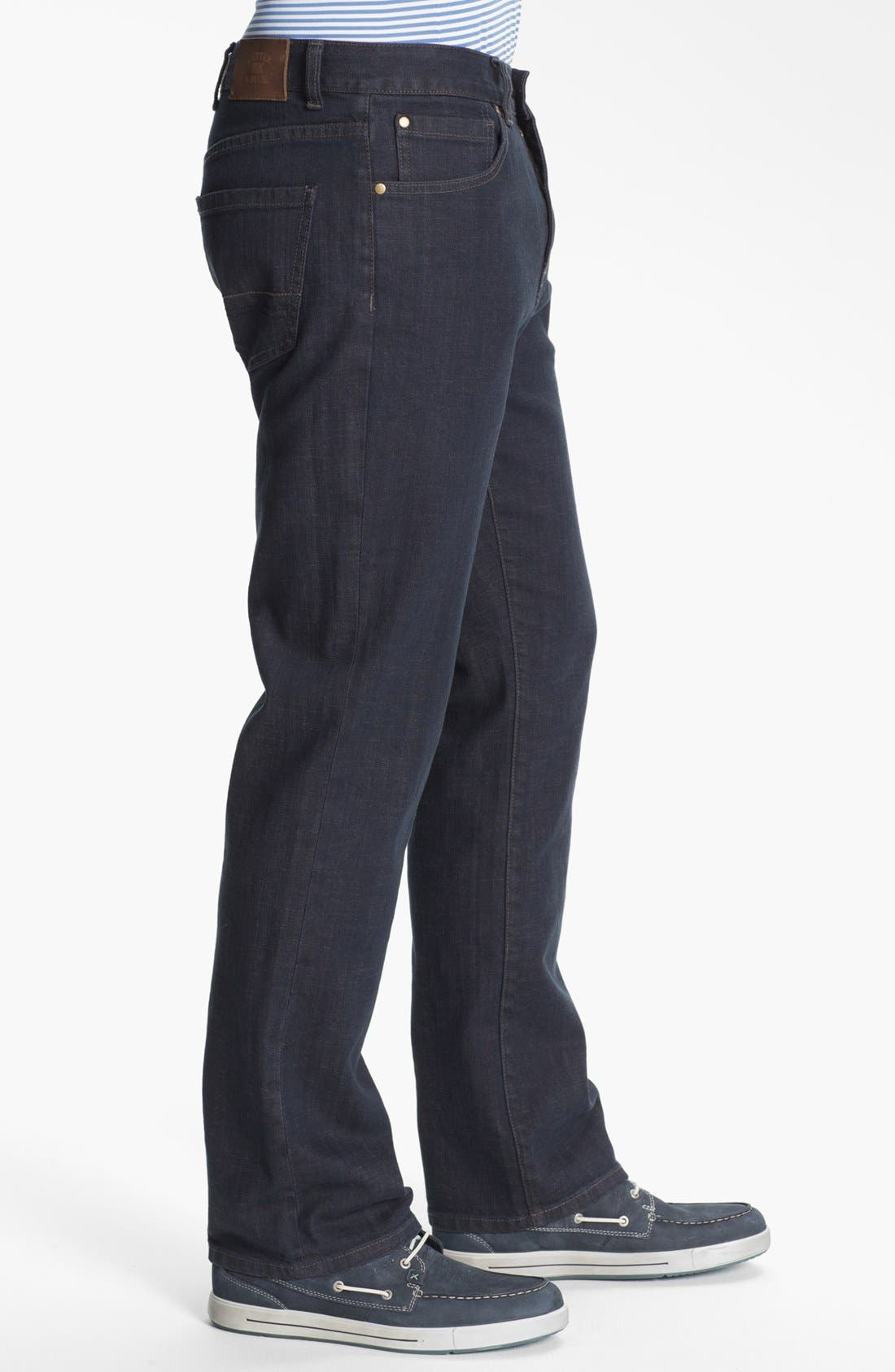 Alternate Image 3  - Cutter & Buck 'Madison Park' Jeans (Carbon) (Big & Tall)