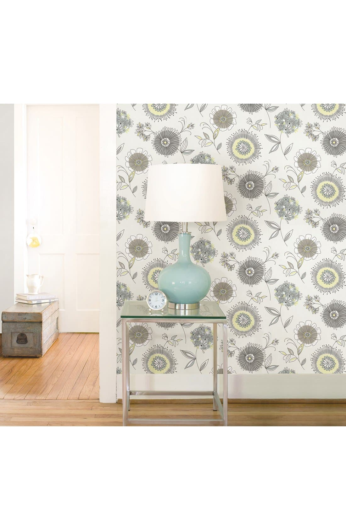 Alternate Image 2  - Wallpops 'Maisie Green Floral Burst' Unpasted Wallpaper