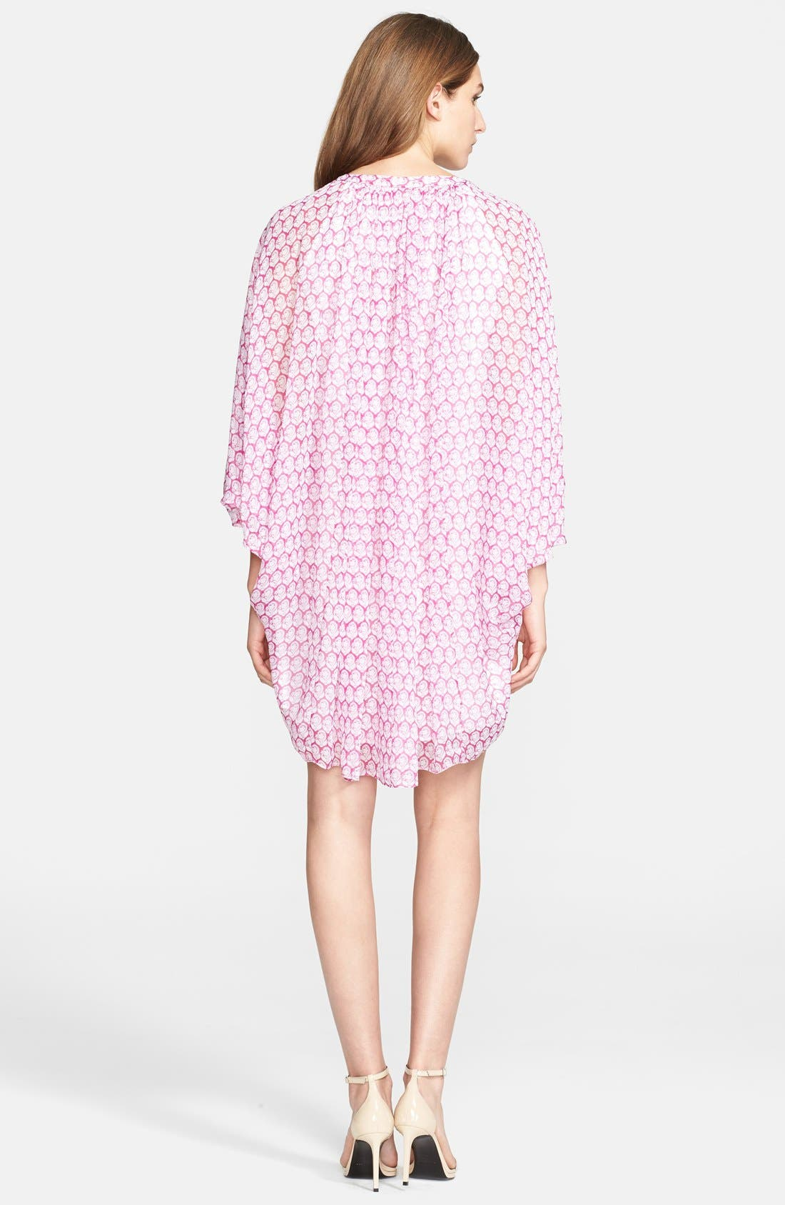 Alternate Image 2  - Diane von Furstenberg 'Fleurette' Stretch Silk Tunic Dress