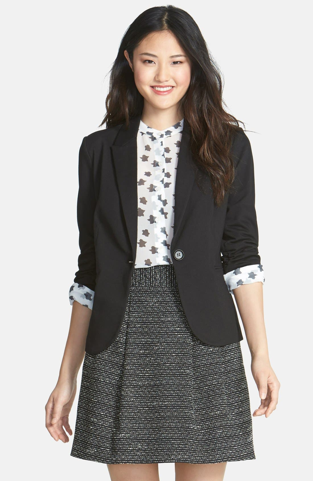Main Image - Olivia Moon Ruched Sleeve Jacket (Regular & Petite)