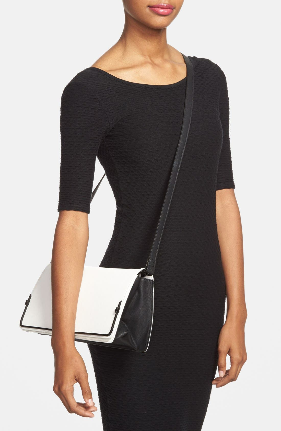 Alternate Image 2  - French Connection 'Prim Lady' Faux Leather Clutch