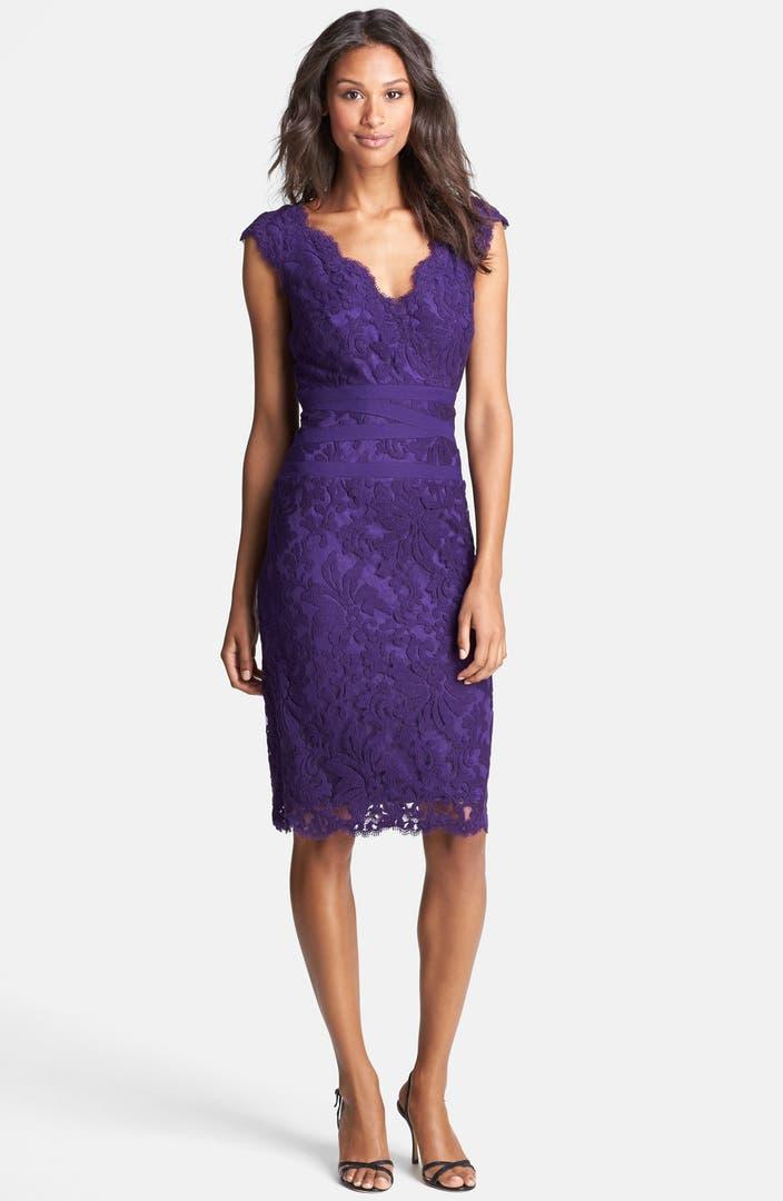 Nordstrom: Tadashi Shoji Embroidered Lace Sheath Dress (Regular